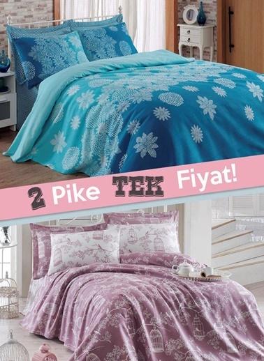 Eponj Home Çift Kişilik Pike Renkli